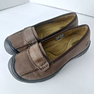 Keen Sterling City Slip On Brown Leather Loafer